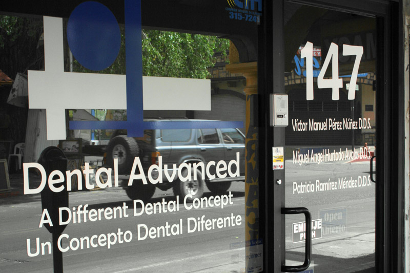 The offices of Nogales Dental Advanced on Avenida Obregon in Nogales, Mexico