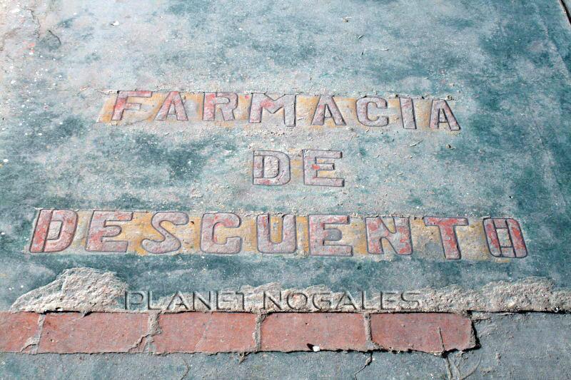 Nogales, Mexico sidewalk