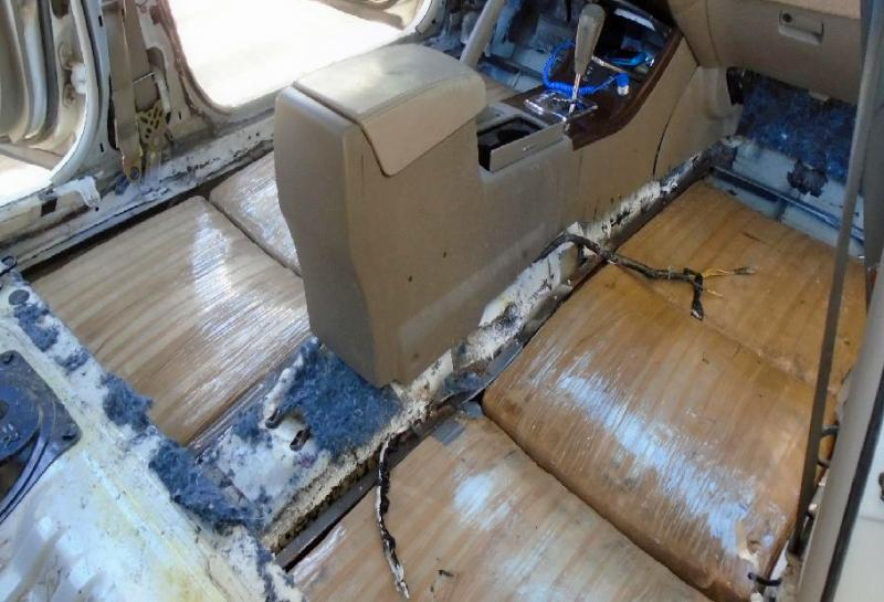 CBP officials found marijuana hidden under the floorboards of a Nissan sedan driven by a woman from Santa Ana, Sonora