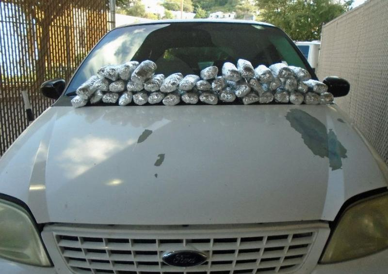 CBP officials found methamphetamine and heroin in this mnivan driven by a resident of Nogales, Arizona