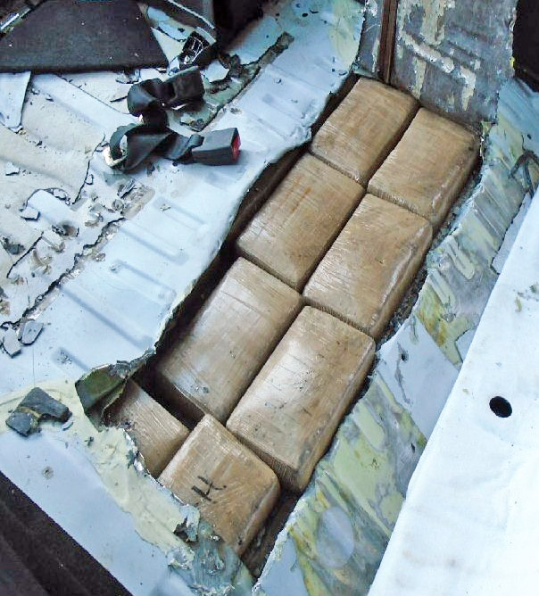 Nov 1 - CBP seized 37lbs of cocaine hidden in a Mazda sedan