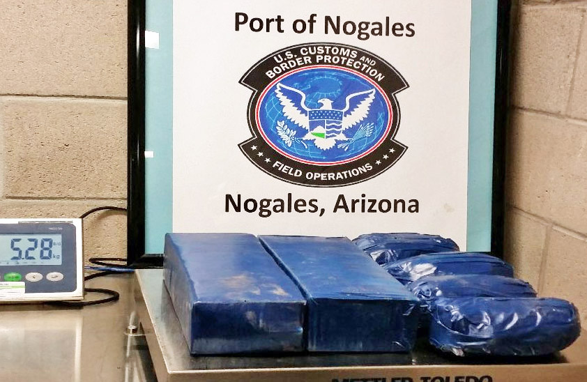Nov 6 - CBP finds 12lbs of meth hidden under the seats of a Jeep SUV