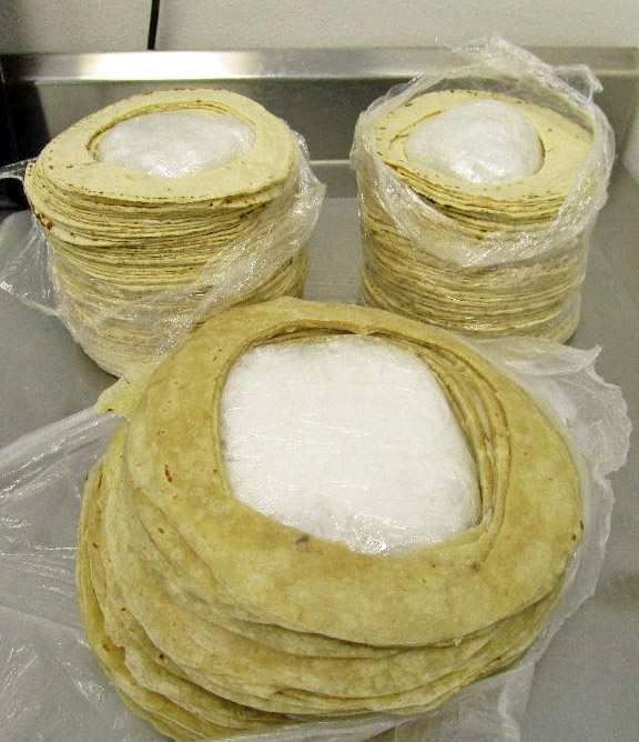 Meth hidden in tortillas carried by a 62-year-old Nogales, AZ man