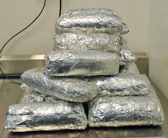 Bundles of meth found in an SUV at the DeConcini Port on Oct 30, 2016
