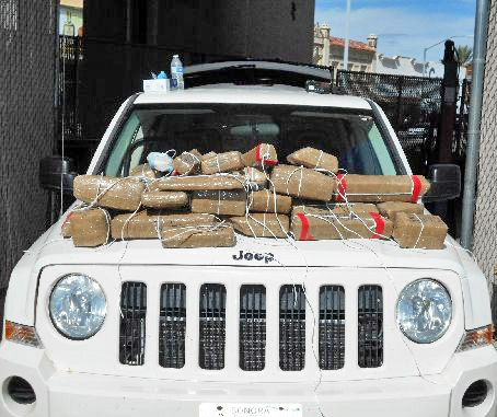 CBP officials seized $266k in hard drugs hidden in this Jeep SUV on Oct 31, 2016