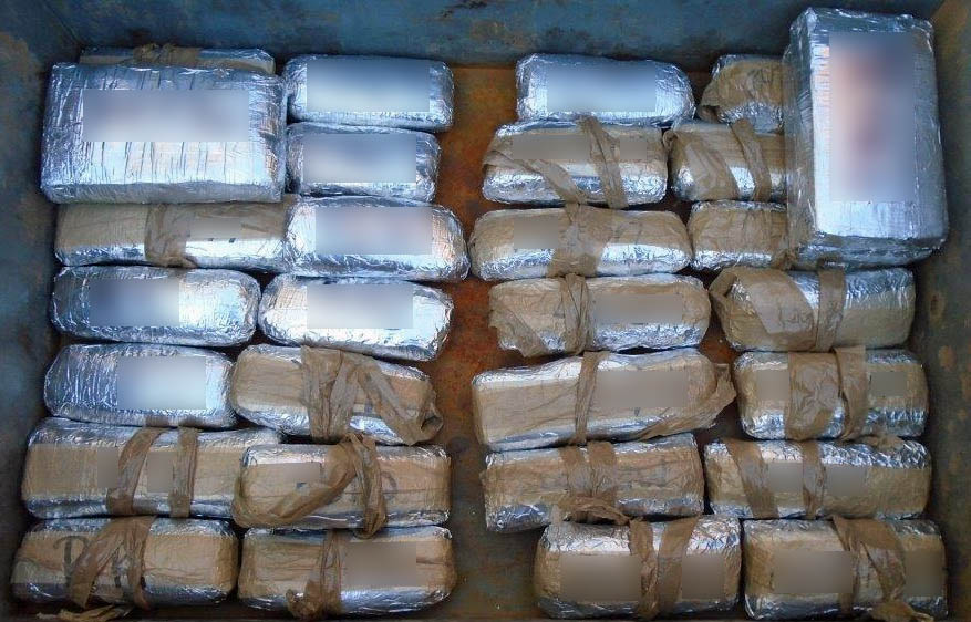 Bundles of cocaine, heroin and meth seized by Nogales CBP in mid-Dec 2016