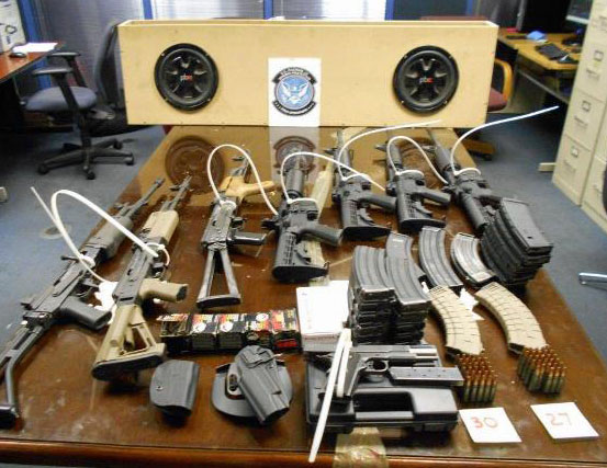 Nogales weapons, ammo and magazines seized in Nogales - January 2017