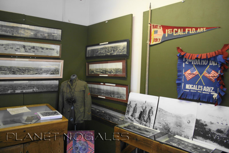 Military memorabilia at the Pimeria Alta History Museum in Nogales, Arizona