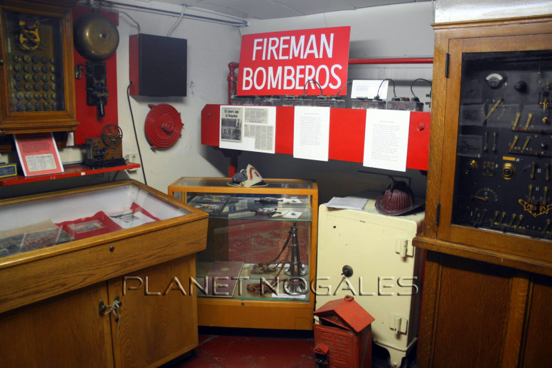 Nogales fire department display at the Pimeria Alta History Museum in Nogales, Arizona