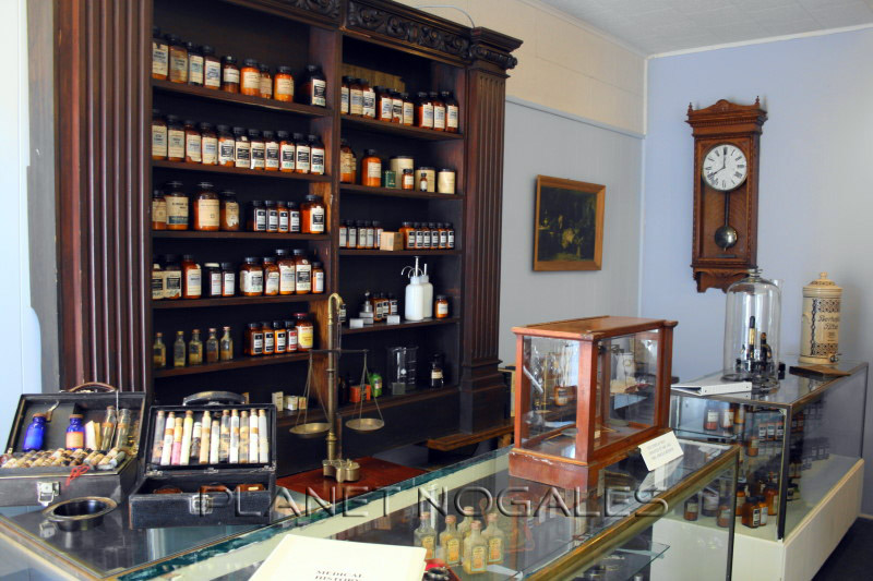 Border apothecary display at the Pimeria Alta History Museum in Nogales, Arizona