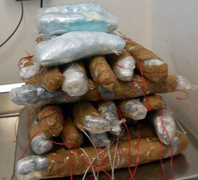 Meth, heroin and coke seized at the Nogales international border on January 27, 2017